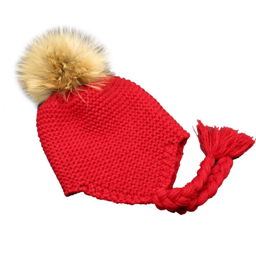 Fulltime® 12- 48 mois Bébé Fille Garçon Naissance Ponpom Bonnet Cap