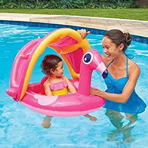play day baby float with sunshade flamingo. Black Bedroom Furniture Sets. Home Design Ideas