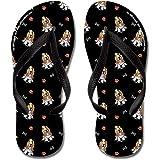 CafePress - Bassets Bones N Paws Black - Flip Flops, Funny Thong Sandals, Beach Sandals