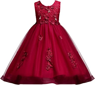 Princess Flower Girl Dress Kid Baby Gown Formal Party Wedding Bridesmaid Dresses