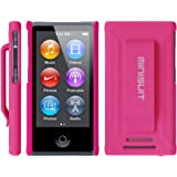 Minisuit JAZZ Slim Shell Case with Belt Clip + Screen Protector for iPod Nano 7 or 8 / 7th or 8th Gen (Rubberized Pink)