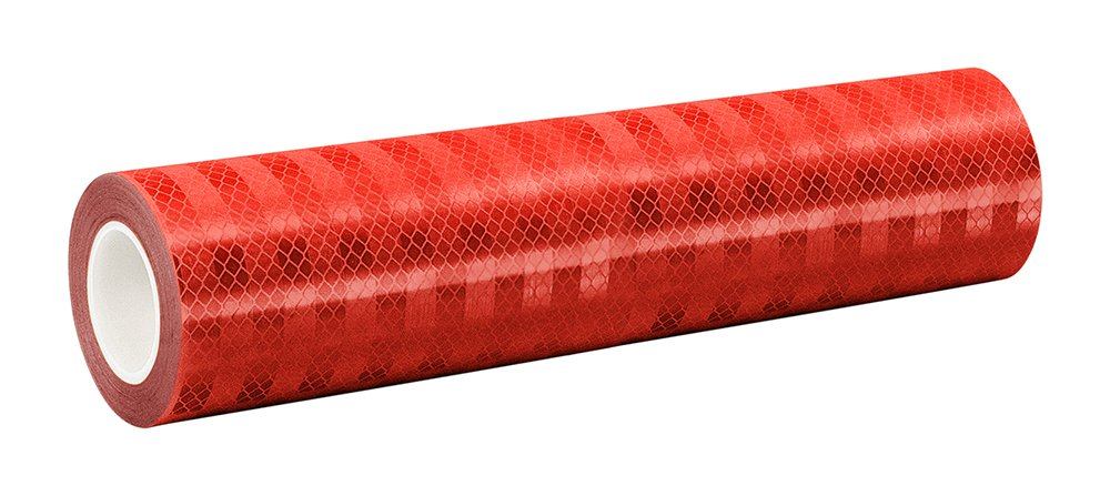 3M 3432 Red Micro Prismatic Sheeting Reflective Tape, 0.625 X 50yd (1 Roll) 0.625 X 50yd (1 Roll) 3M 3432 0.625 x 50yd