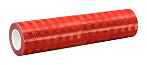 3M 3432 Red Micro Prismatic Sheeting Reflective Tape – 12 in. X 150 ft. Non Metalized Adhesive Tape Roll. Safety Tape