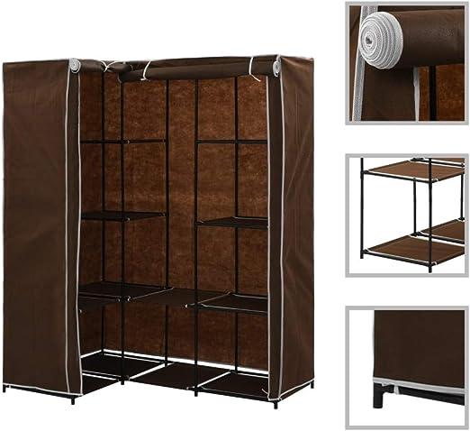 Armarios y Almacenamiento Armarios roperosArmario de Esquina marrón 130x87x169 cm: Amazon.es: Hogar