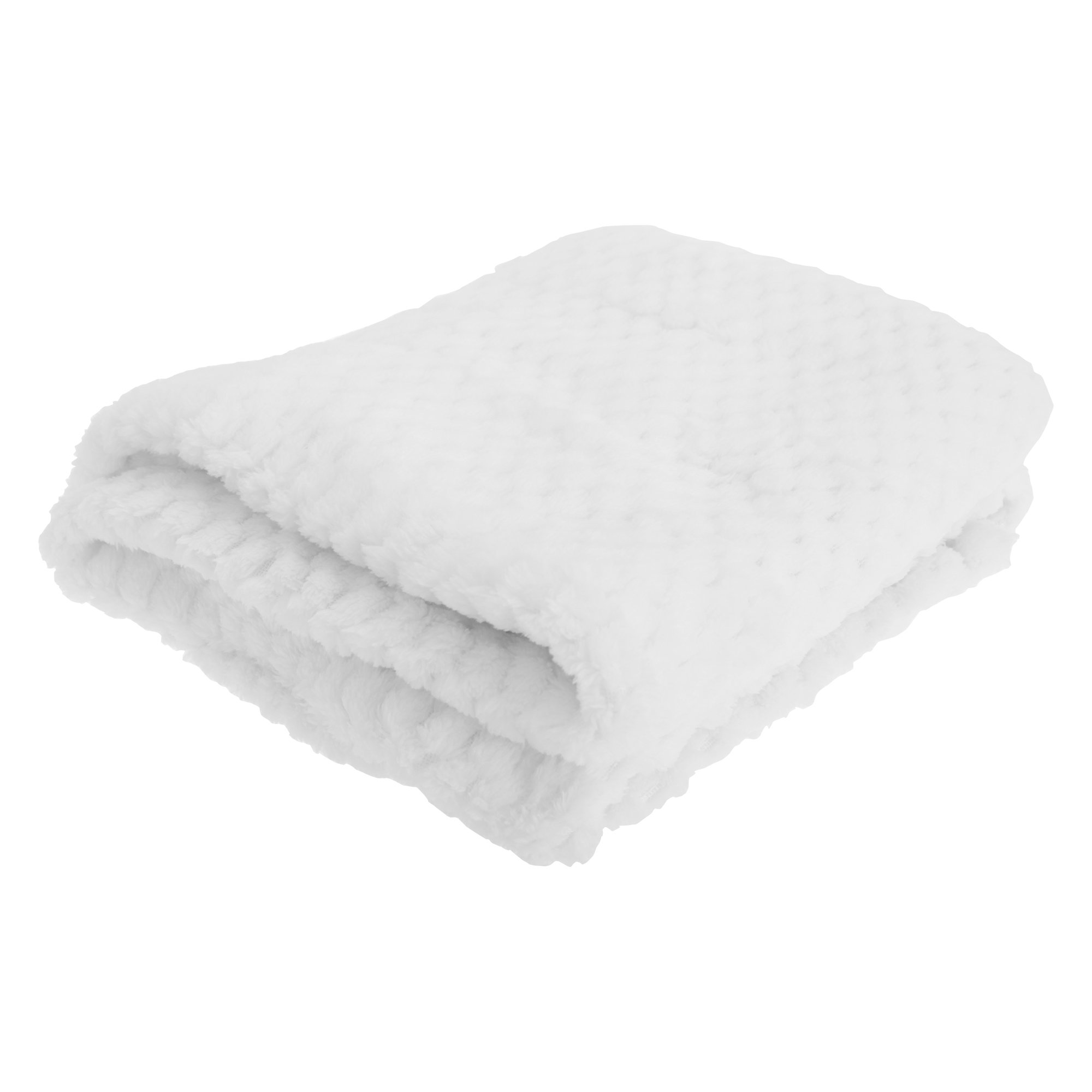 Baby Boys/Girls Supersoft Waffle Textured Blanket (29.5 x 35.4in) (White) product image