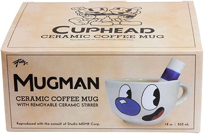 Just Funky Cuphead Collectibles | Ceramic Molded Mugman Cup | 20 ...