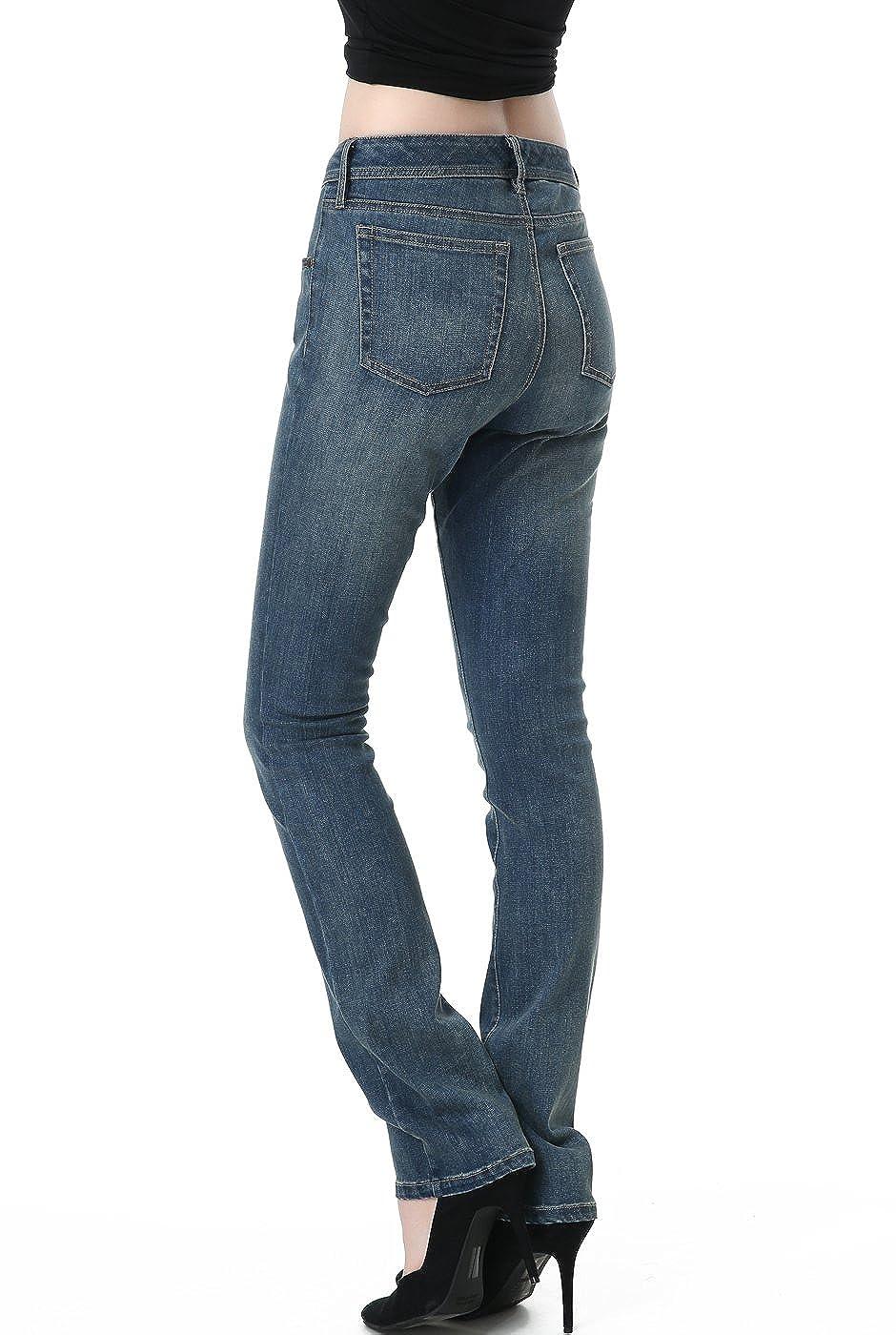 phistic Womens Ultra Stretch Medium Indigo Straight Leg Jeans