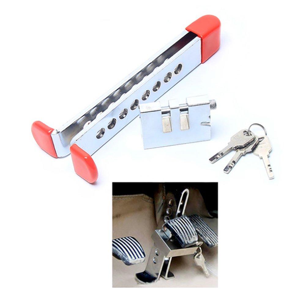 Anti-Theft Device 8 Holes Clutch Lock Stainless Steel Car Brake Pedal Lock Car steering wheel lock