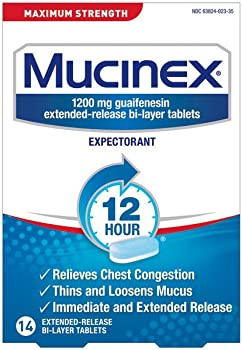 Mucinex Max Strength 12-Hr Chest Congestion Tablets 14-Count Box