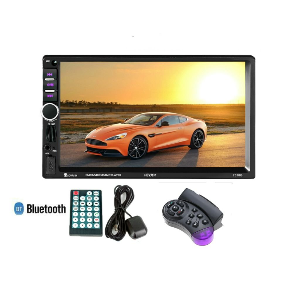 Toogoo 2 Din Car Multimedia Player+GPS Navigation with Steering wheel control 7in HD Touch Screen Bluetooth Autoradio MP5 Video Stereo Radio
