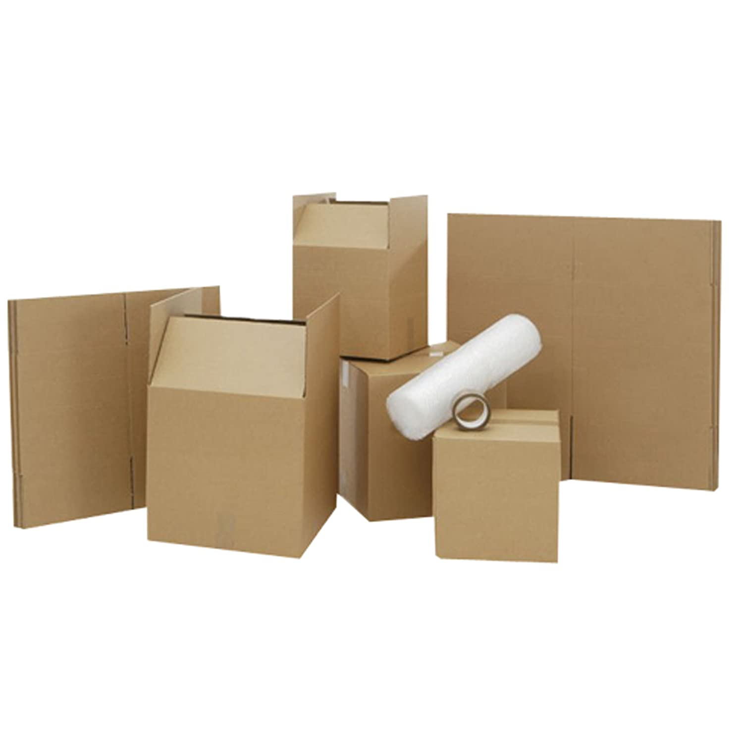 Large Cardboard Box House Moving Removal Packing Kit inc 40 new boxes (Various Sizes) & Extras bubble wrap, refuse sacks, tape, marker pen