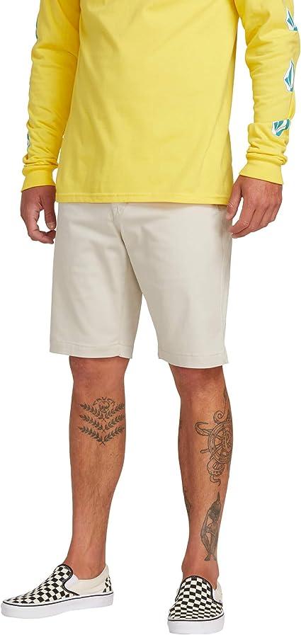 TALLA 38. Volcom Men's Frickin Modern Stretch Chino Shorts para Hombre