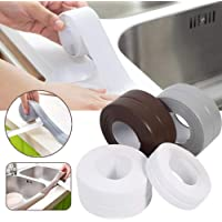 KOMIWOO 2 Pack Bathtub Caulk Strip PE Waterproof Self Adhesive Sealant Tape for Bathroom, Kitchen, Tub and Wall Corner Edge, White