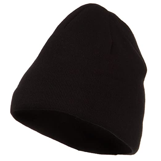 978198a7fb8 Image Unavailable. Image not available for. Color  Cool Max Plain Color  Beanie - Black
