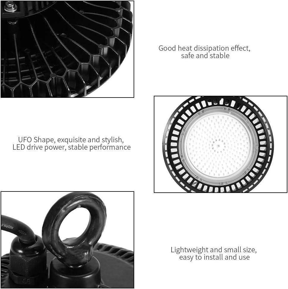 150W L/ámpara LED de la Bah/ía Impermeable IP65 Foco LED Exterior Proyector UFO Iluminaci/ón Comercial Luz para Exteriores 22000LM Super Brillante AC85-265V