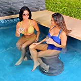 Liquidseat Pool Seat | Swim Up Bar Stool Light Blue