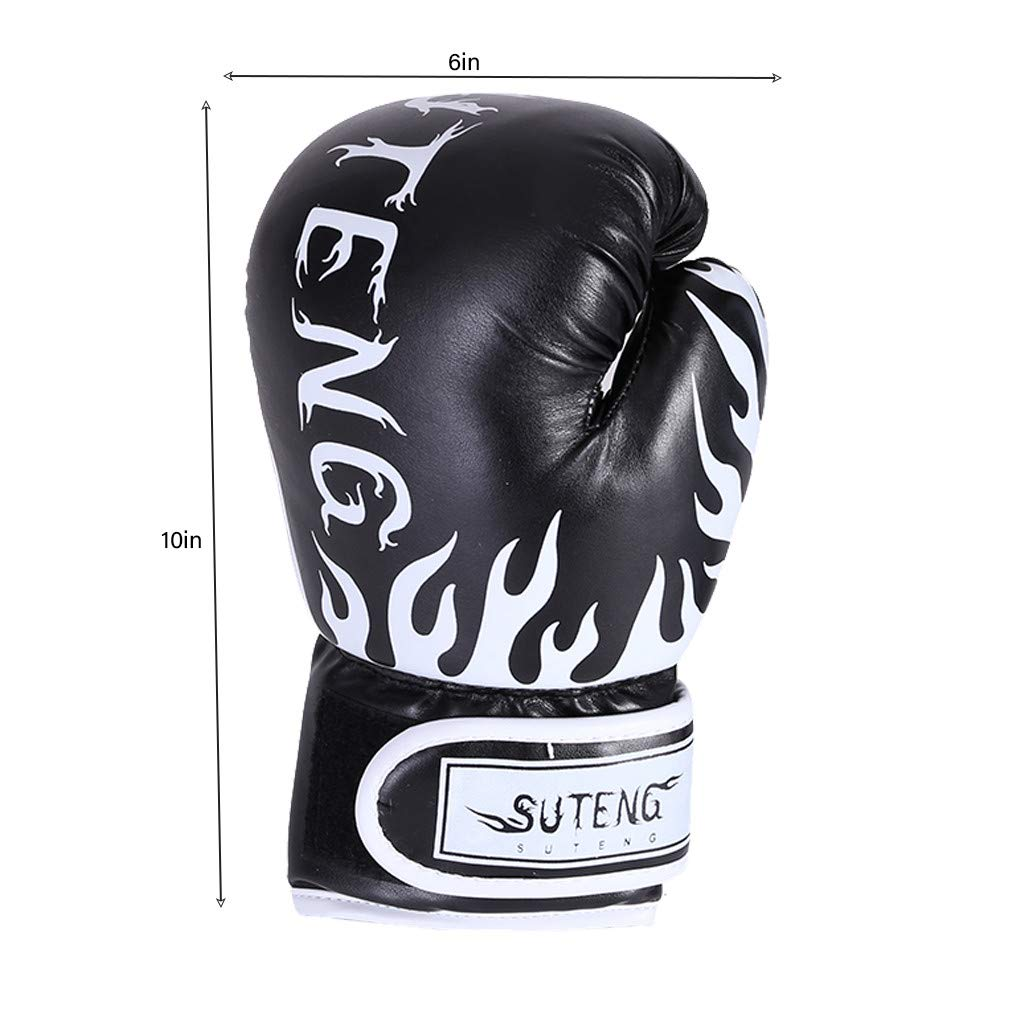 Hellofishly Kids Boxing Gloves,Hot Letter Boxing Sanda Fight Training Gloves for Children 8-14 Years Old,Wear-Resistant and Tear-Resistant Boxing Gloves