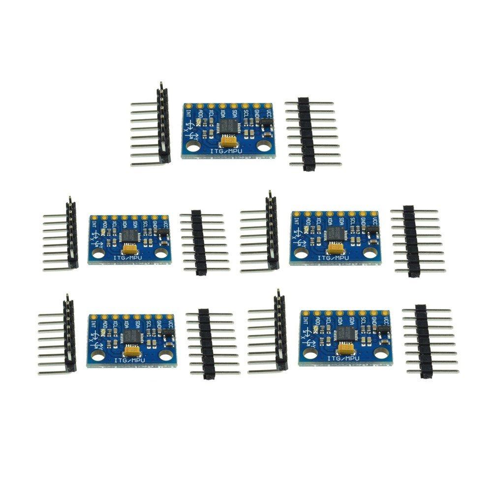 Diymore 5Pcs 6DOF MPU-6050 MPU 6050 Module 3 Axis Gyroscope + Accelerometer Module for Arduino by diymore