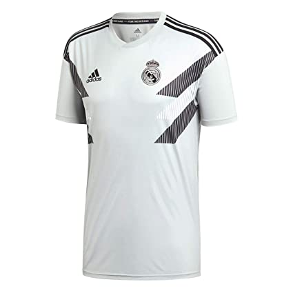 c557a04e8860 Image Unavailable. Image not available for. Color  adidas 2018-2019 Real  Madrid Pre-Match Training Football Soccer ...