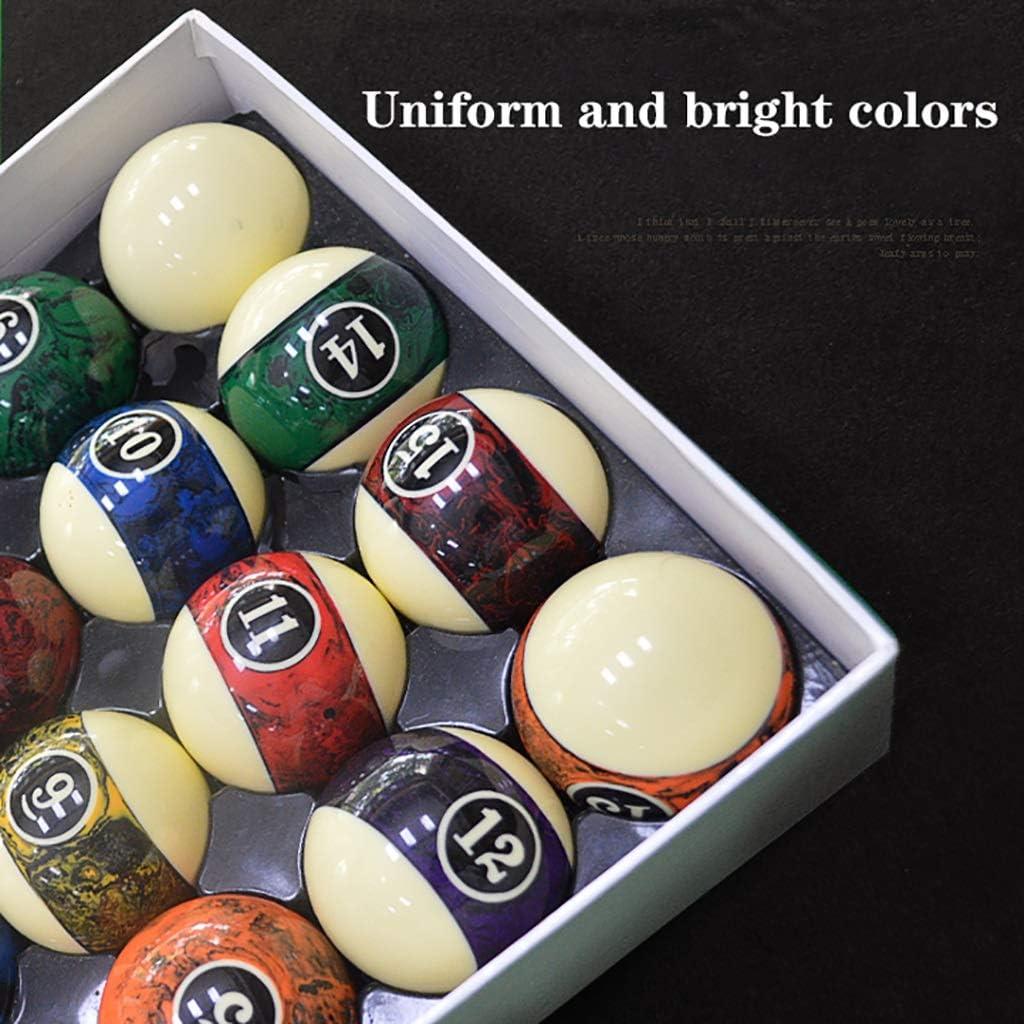 WXS Billar Bolas Piscina Conjunto Estándar Grande 57.2mm Bola Coloridas Dieciséis Color De Billar: Amazon.es: Deportes y aire libre