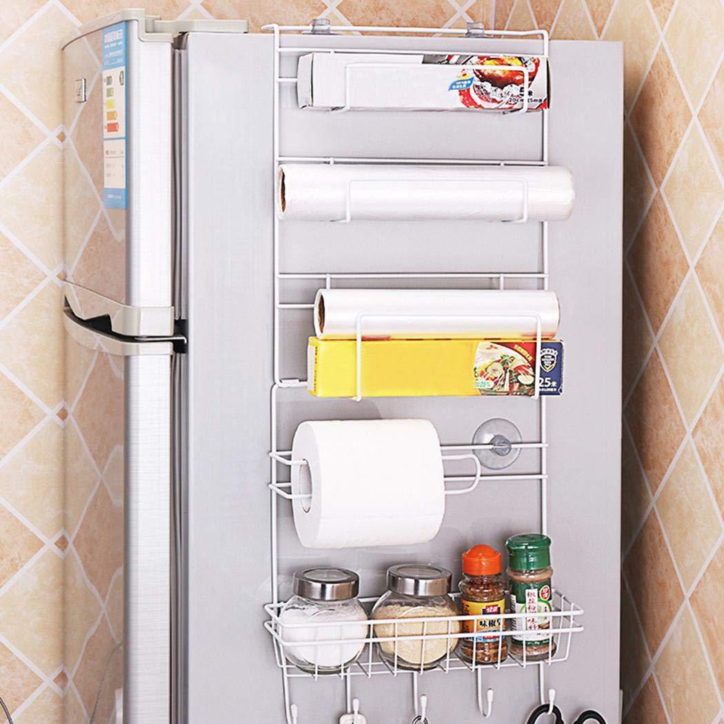 Redpol Home Kitchen Refrigerator Suction Cup Metal Storage Rack Bathroom Shelves