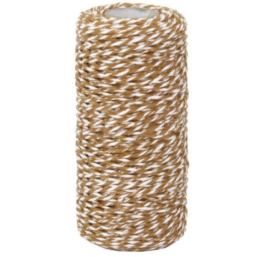 beige outflower 100/M Cinta de regalo 1,5 mm dise/ño de algod/ón cuerda cordel cuerda cord/ón azul oscuro