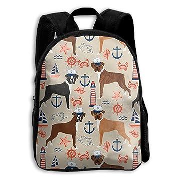 ERTOUGN22 Boxer - Mochilas de Verano náuticas Tropicales para niños, Mochilas Escolares para niñas y niños: Amazon.es: Hogar
