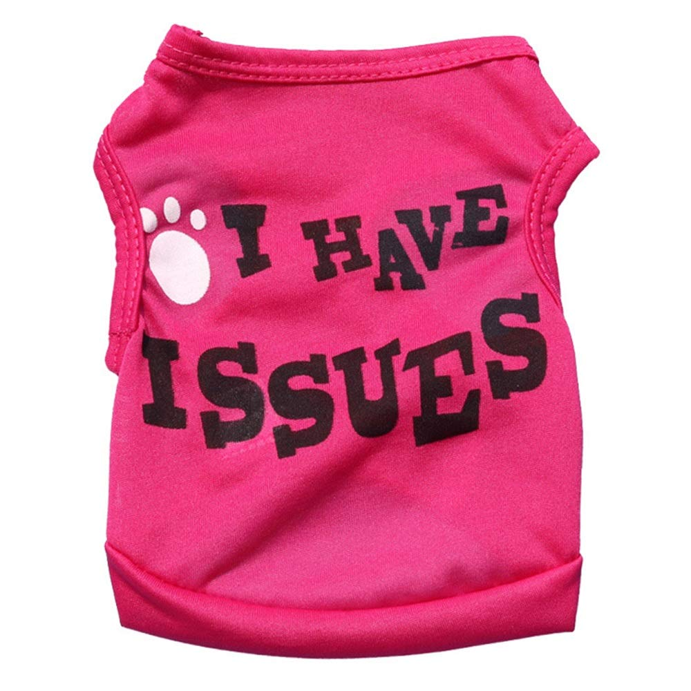 Red S Red S Huayue Dog Clothes Polyester Large and Spiritualist Little Dog Pet Vest (color   Red, Size   S)