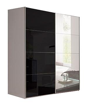 kleiderschrank schiebet ren schwarz. Black Bedroom Furniture Sets. Home Design Ideas