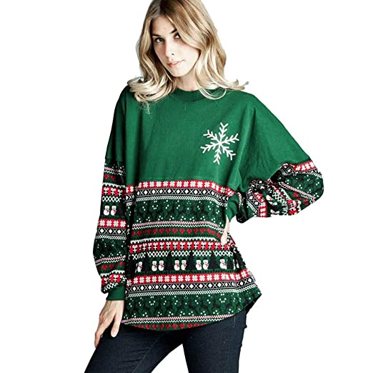 Image Unavailable. Image not available for. Color  Simayixx Sweatshirts for Women  Women Reindeer Ugly Christmas Sweater Xmas Snowflakes Pullover ... c204fb8a4