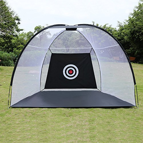 Creine Golf Practice Net, Portable Golf Pop Up Hitting Net Golf Training Net Driving Hit Net with Chipping Target & Carry Bag (US STOCK) by Creine