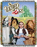 Warner Brothers Wizard of Oz,''Group'' Metallic Woven Tapestry Throw Blanket, 48'' x 60''