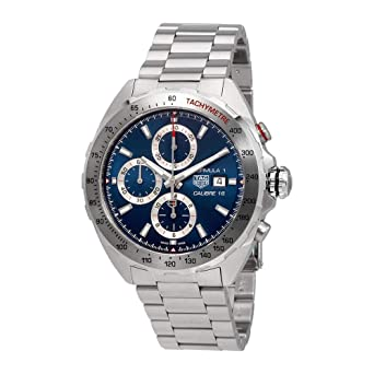 0b56a27130dc Image Unavailable. Image not available for. Color  TAG Heuer Formula 1 Blue  Dial Calibre 16 Chronograph Men s Watch ...