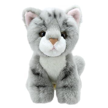 Wilberry Mini - Peluche de gato gris de 15 cm: Amazon.es: Juguetes y juegos