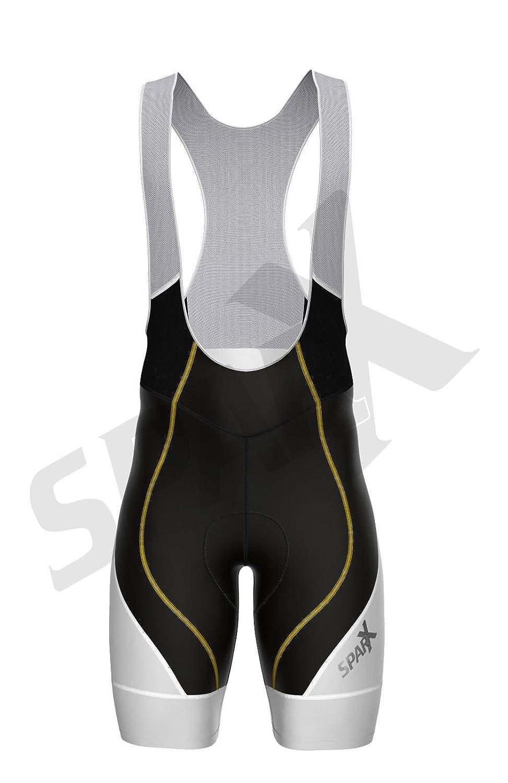 Sparx Elite Men Bike Bib Shorts Cycling Racing Bibs CoolMax Padded B//White