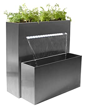 Sutherland Falls Rectangular Planter Waterfall Cascade With Led