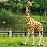 QHYT Garden Lifelike Decorations Lifesize Animal Statue Imitation Giraffe