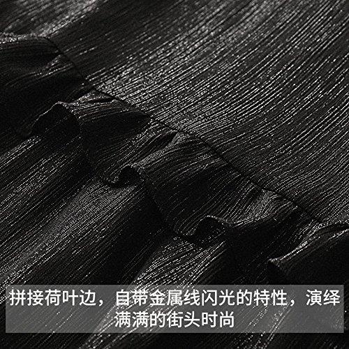 Robe tudiant d'attente MiGMV gateau Longue XL Noir Mousseline Jupe de d't Robe Couleur Abricot T4Axq4wdR