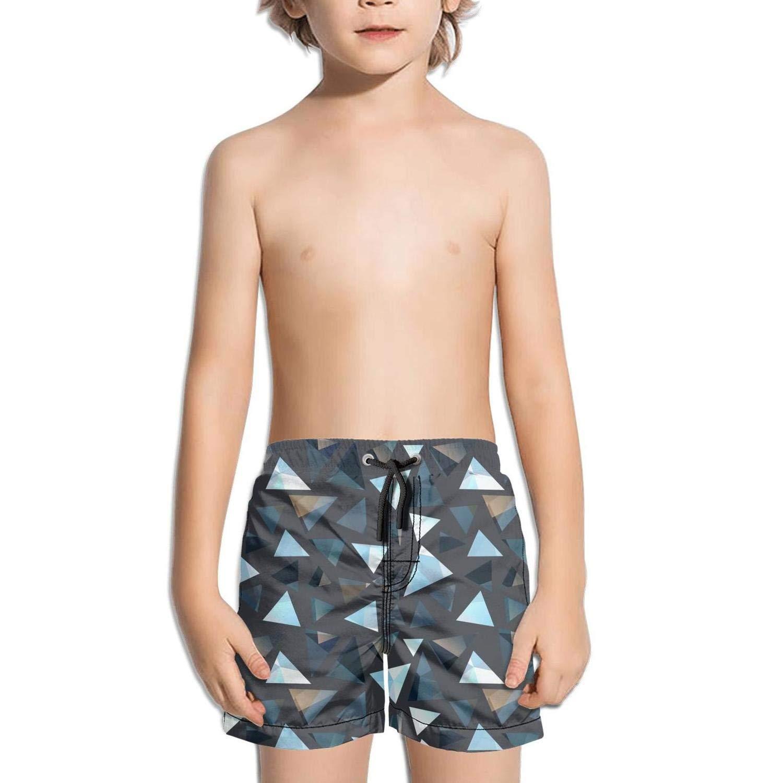BingGuiC Boys Quick Dry Shorts Retro Triangle Greek Geometric Fashion Swim Trunks