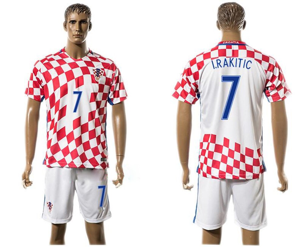 Camiseta de fútbol, de Generic, de Ivan Rakitic 7 de Croacia, de color rojo., European Soccer League, Hogar, hombre, color rojo, tamaño small: Amazon.es: ...