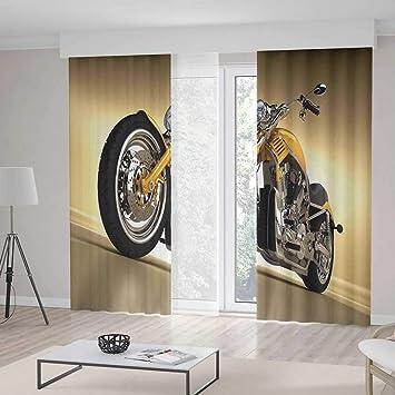 Amazon.com: TecBillion Door Curtain,Motorcycle for Living ...
