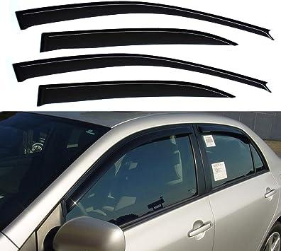 Window Visor Rain Guard Vent Sun Shade Deflector for Toyota Corolla 2003-2008