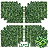 Sunnyglade 12 Pieces 20'x20' 32 Square Feet Artificial Boxwood Panels Topiary Hedge Plant, Privacy Hedge Screen UV Protected Suitable for Outdoor, Indoor, Garden, Fence, Backyard and Décor (12PCS)