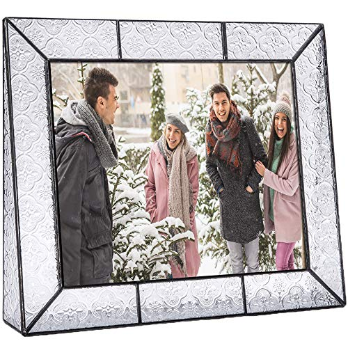 - J Devlin Pic 126 Series Clear Vintage Stained Glass Picture Frame Assorted Sizes (8x10 Horizontal)