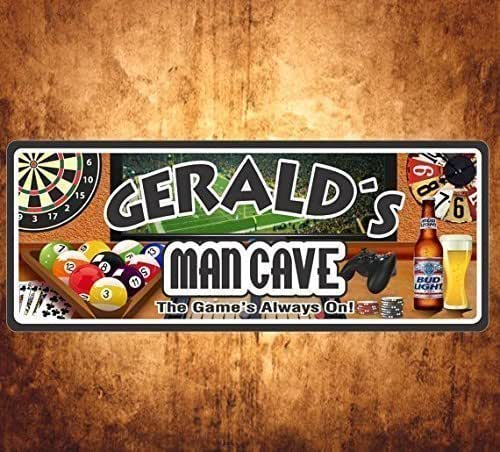 Gamer Man Cave Gifts : Amazon sign personalized room game bar pub man cave