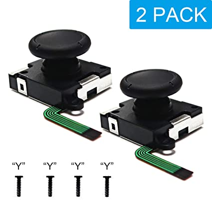 Joy-Con Joystick Replacement Compatible for Nintendo Switch,BRHE 2 Pack 3D  Analog Joystick Left and Right Repair Kit Thumb Sticks Sensor with 4