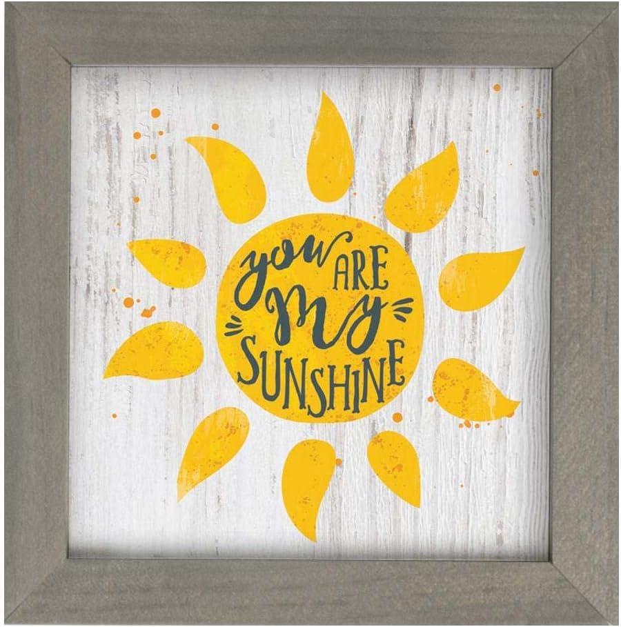 P. Graham Dunn You are My Sunshine Sunshine Yellow 7 x 7 Wood Decorative Framed Art Plaque