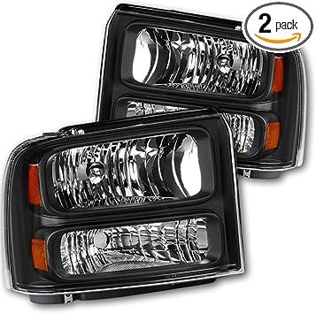 05-07 Ford F250//F350//F450//F550 Super Duty 05 Excursion Chrome Clear Headlights