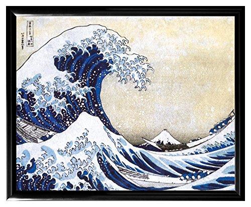 Culturenik Katsushika Hokusai The Great Wave Japanese Fine Art Poster Print (8 X 10 Wood X Frame Print)