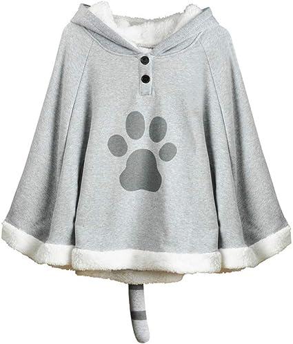 Girls Cute Cat Hoodie Sweatshirt Cloak Pullover